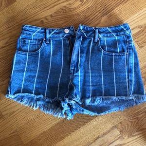 Pac Sun Highrise stripped festival shorts